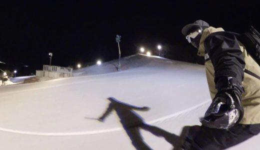 一面雪景色の鷲ヶ岳スキー場で真っ白圧雪バーンを滑ってきました!